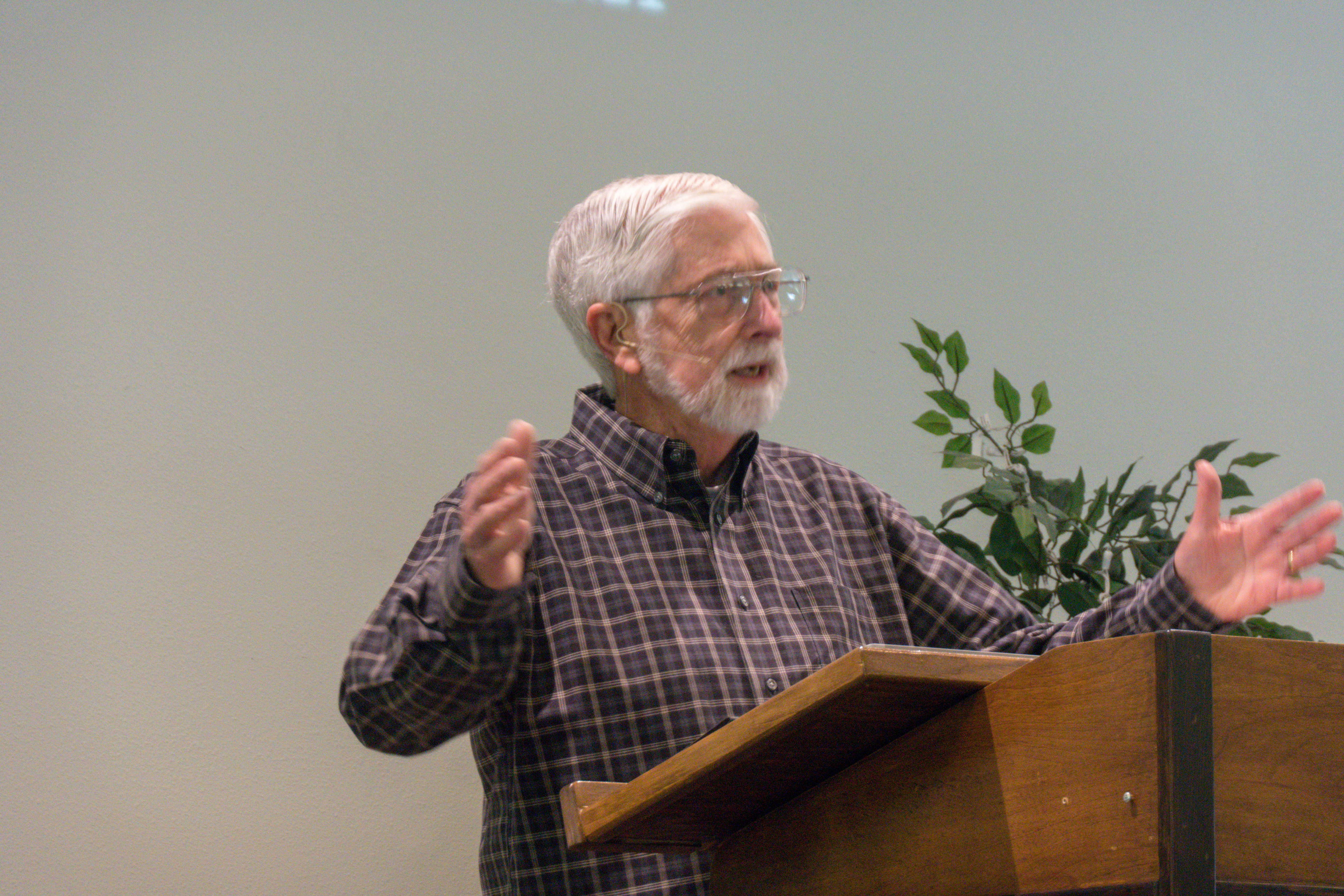 Image of Pastor Charlie preaching